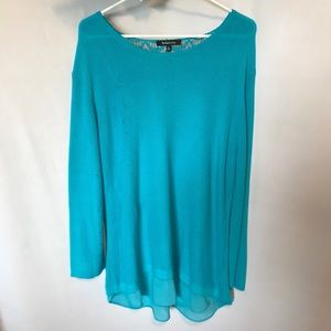 Relativity Teal Blue Sweater in Size XL